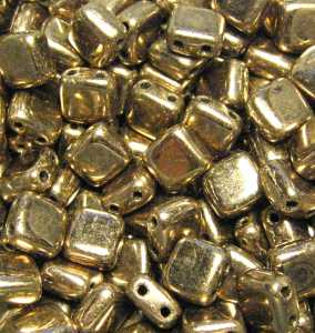 Tile bead Bronze galvanized