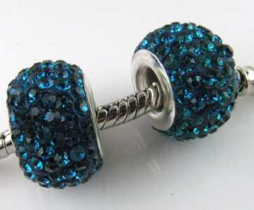 Multistrass a foro largo Blue zircon
