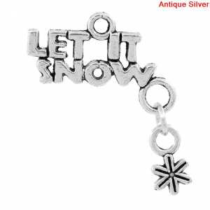Charm LET IT SNOW