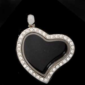 Secret Charm Ciondolo Base Cuore con Strass