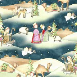 Stoffa Patchwork Oh Holy Night