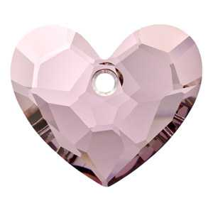 Truly in Love Heart Crystal Antique Pink