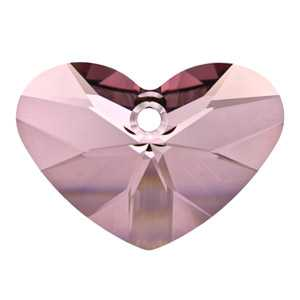 Crazy 4 U Heart Crystal Antique Pink
