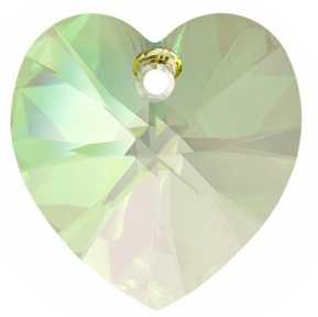 Cuore Swarovski Crystal Luminous Green