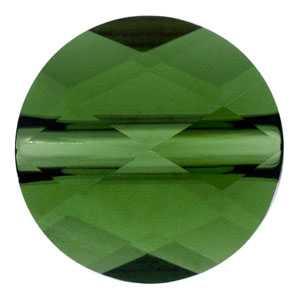 Mini round bead Dark Moss Green