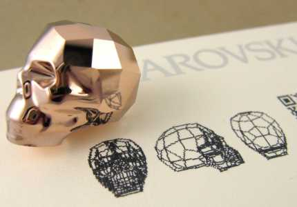 Swarovski Skull Bead Big Rose gold 2x