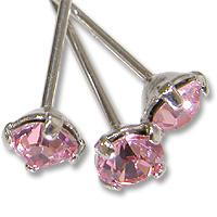 Chiodo Swarovski strass Light Rose