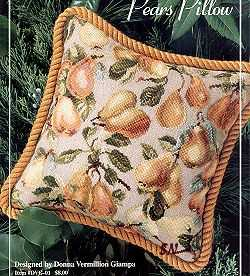 Pear Pillow Donna Vermillion Giampa  Hover