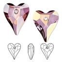 Wild heart pendant Crystal Lilac Shadow