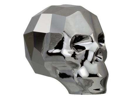 Swarovski Skull Bead Big Silver Night 2x