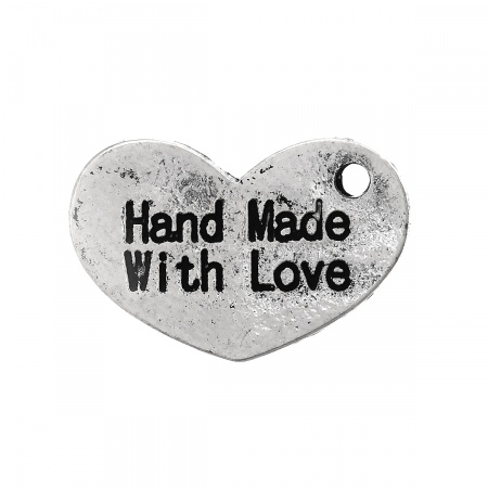 Charm Hande Made with love  Hover
