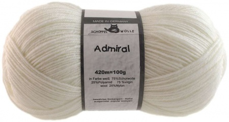 Schoppel Wolle Admiral colore 990 Bianco