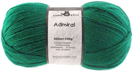 Schoppel Wolle Admiral colore 6601 Verde marziano
