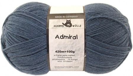Schoppel Wolle Admiral colore 4993 Jeans melange