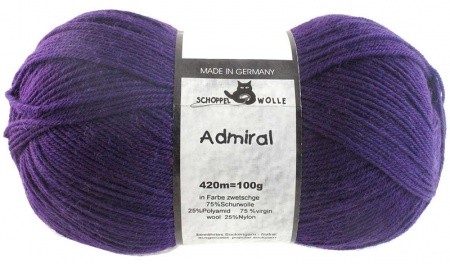 Schoppel Wolle Admiral colore 3693 Prugna