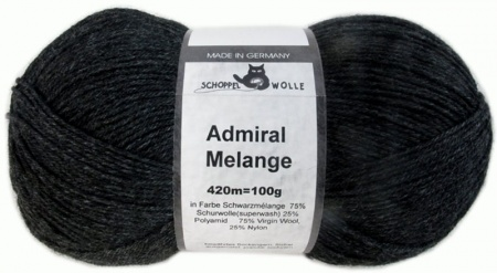 Schoppel Wolle Admiral colore 9093m nero melange  Hover