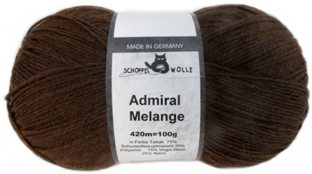Schoppel Wolle Admiral colore 8488m Tabacco