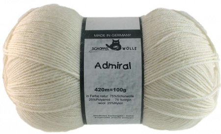 Schoppel Wolle Admiral colore 980 Naturale