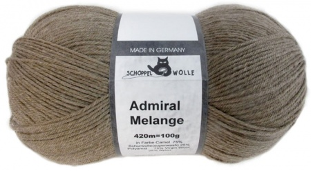 Schoppel Wolle Admiral colore 7398m Cammello