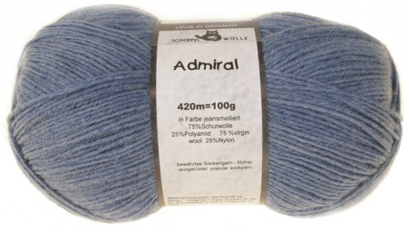 Schoppel Wolle Admiral colore 4653m Jeans Melange  Hover
