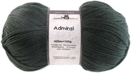 Schoppel Wolle Admiral colore 6373 Verde Oliva