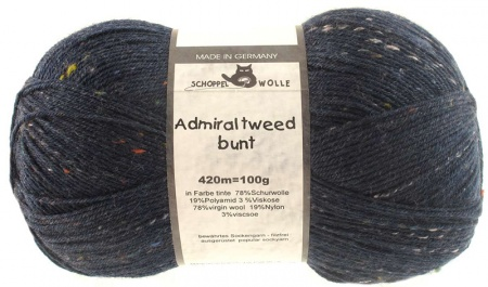 Schoppel Wolle Admiral colore 3593 Tweed Bunt Inchiostro