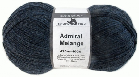 Schoppel Wolle Admiral colore 4488 Vintage Blue