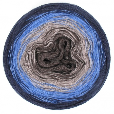 Mega Ciambella Gradient in Cotone colore Dirty Denim